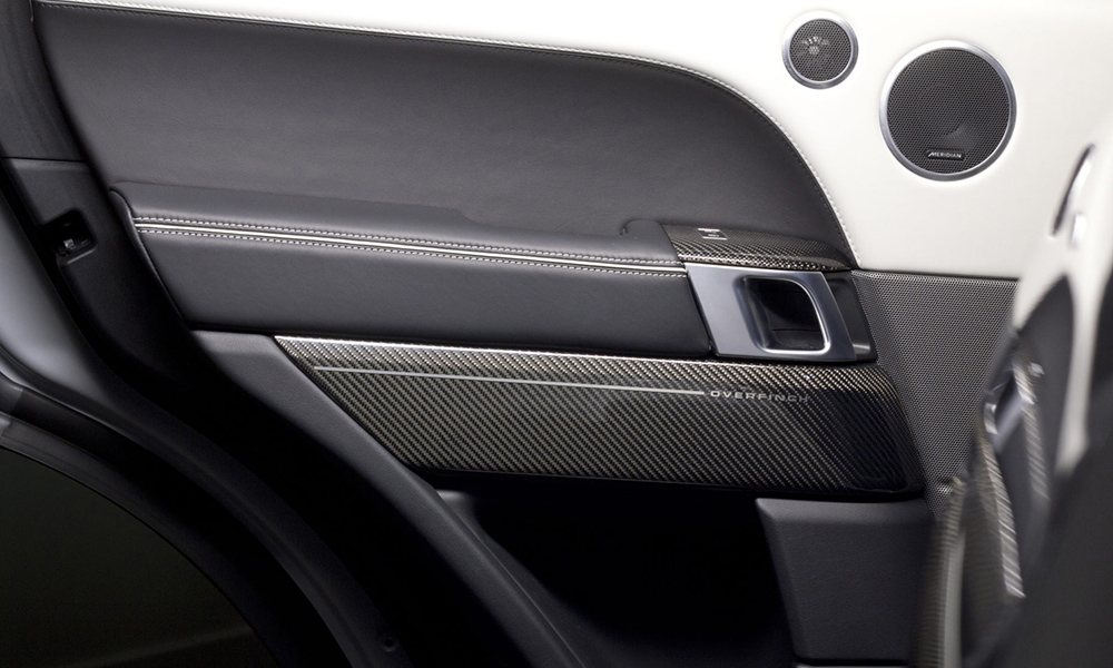 Carbon-fibre elements can be specified for the interior.