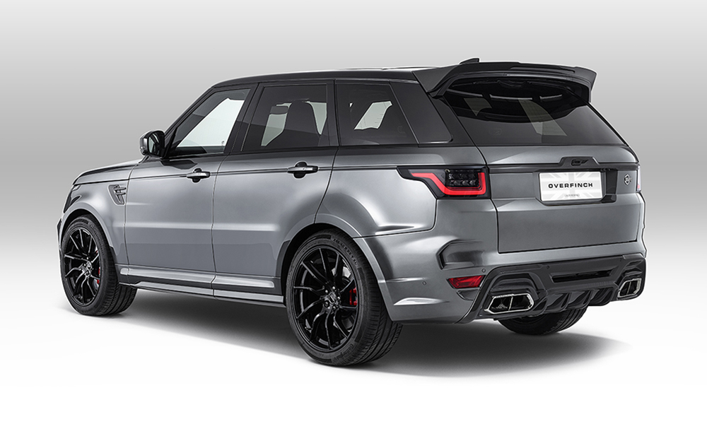 The rear-spoiler is handcrafted from a single piece of carbon-fibre.