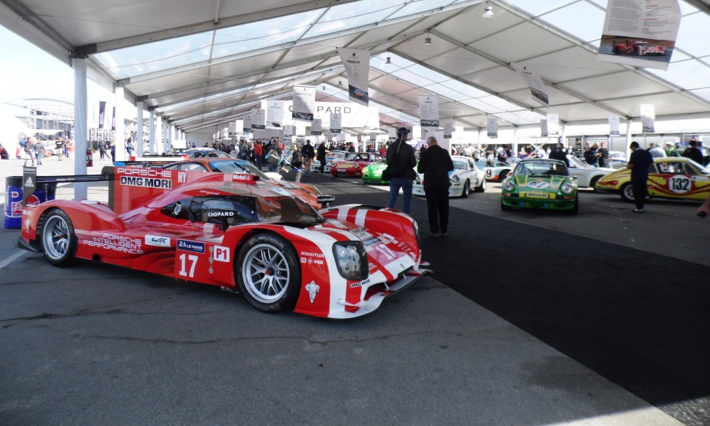 The heritage tent held some of the finest Porsche creations.
