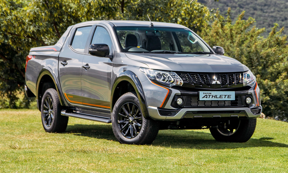 The Mitsubishi Triton Athlete, complete with orange detailing.