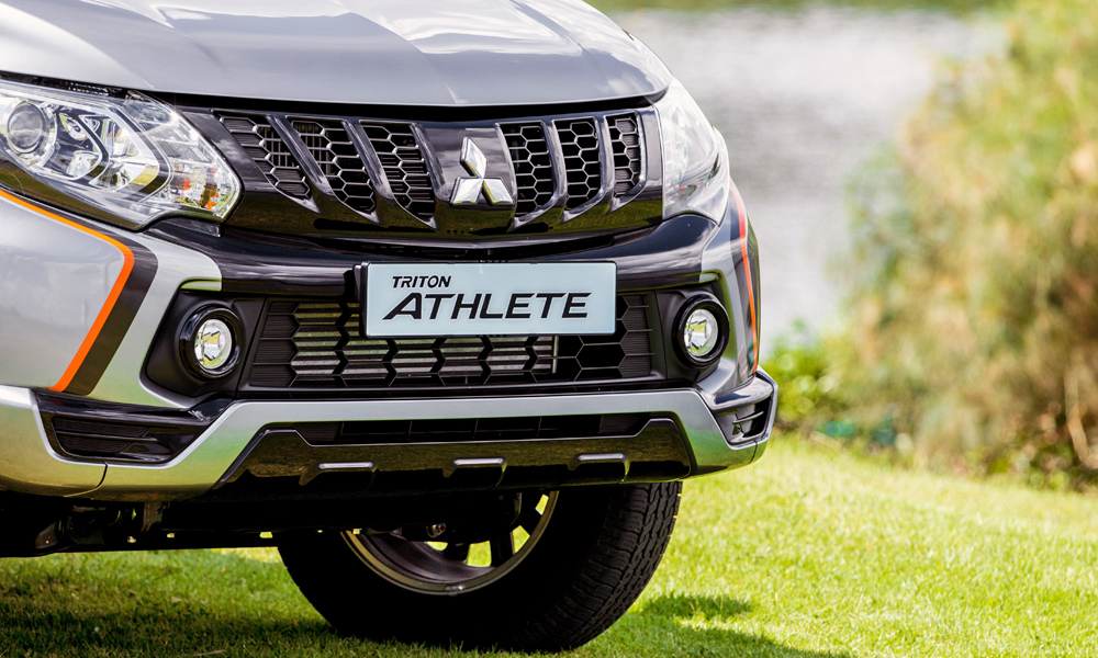 The black grille features a honeycomb design.
