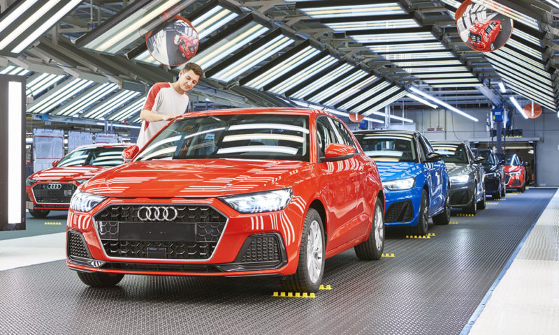 Audi A1 being built in Spain
