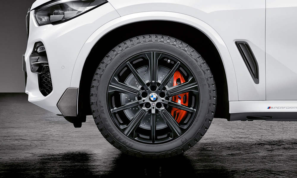 Light alloys (seen here framing uprated brakes) are also offered.