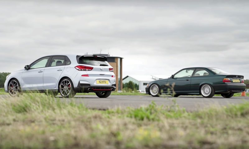 Drag: Hyundai i30 N vs. BMW 328i