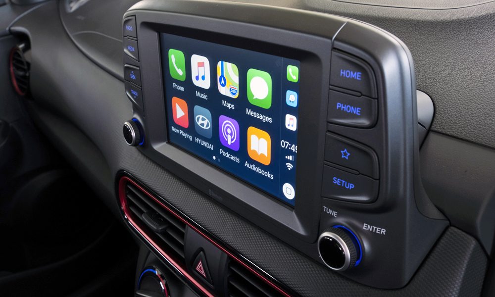 Apple CarPlay functionality comes standard.