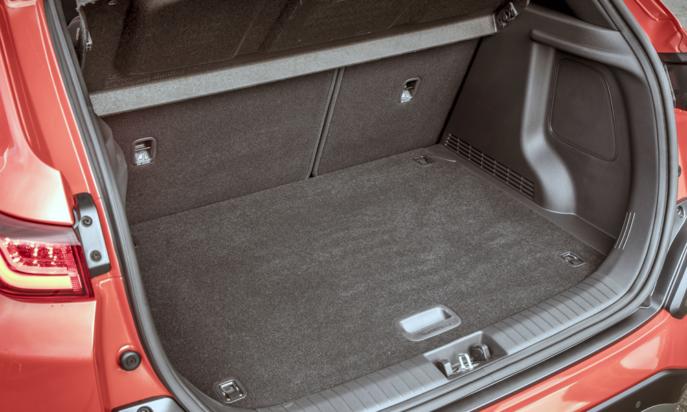 Hyundai claims the boot will hold 361 litres.