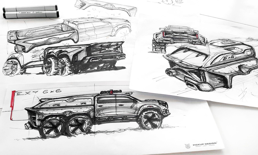 Sketches of the 6x6 concept.