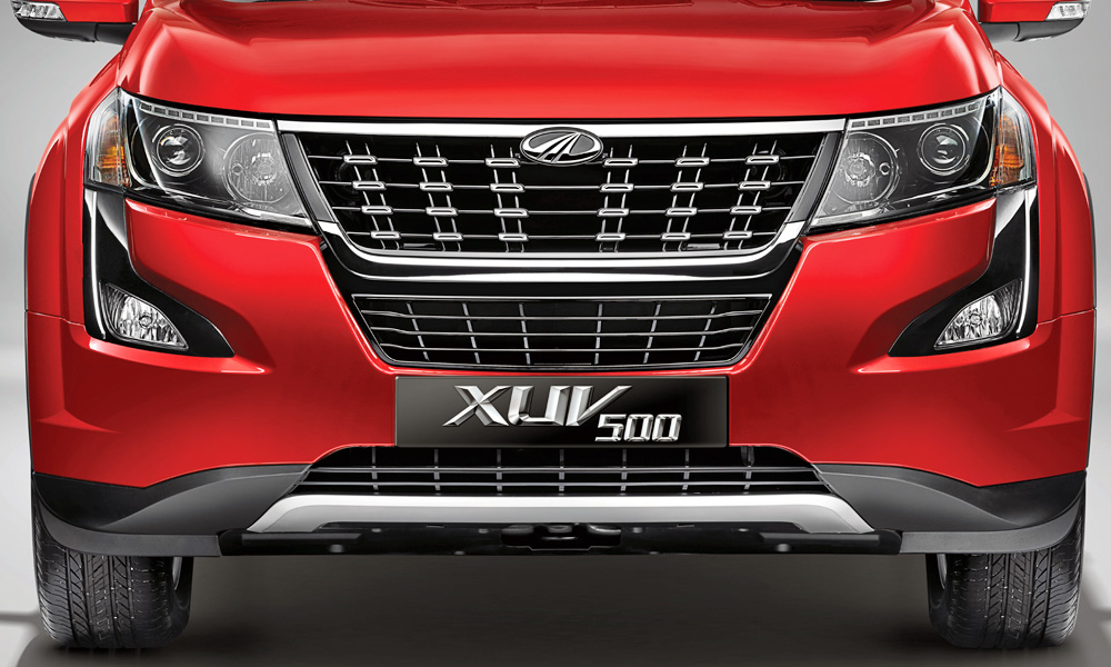 A closer look at the XUV500's fresh face.