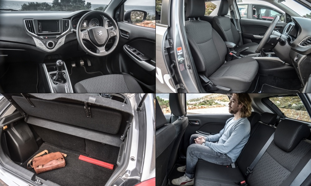 Rear legroom is good; impressively comfortable seating includes height adjustment for the driver.