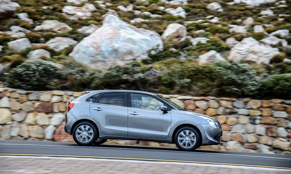 Baleno shares its platform with the new Swift, although larger dimensions mean more space all-round.