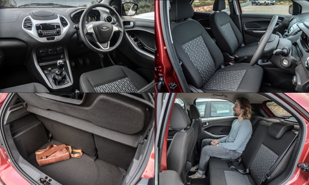 Figo gains neat centre console and controls; smallest luggage bay of these three. Ford tops the Vivo for rear legroom.