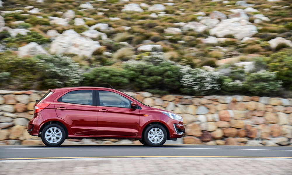 Short overhangs add to Figo's city runabout appeal.