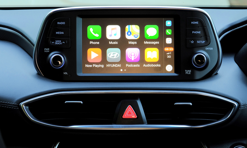 A seven-inch touchscreen infotainment system is standard, with Android Auto and Apple CarPlay functionality.