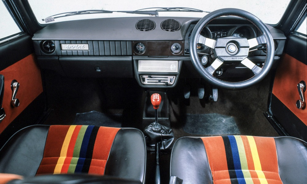 The cabin's design couldn't match the exterior's flair, but Alfa certainly tried with some colourful upholstery choices.