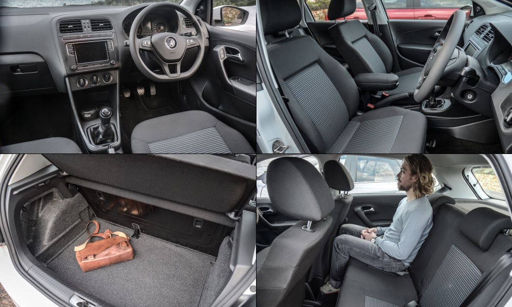 Armrest and under-seat storage box are options in the VW; rear-passenger comfort is the most compromised of these three cars; luggage space above average.