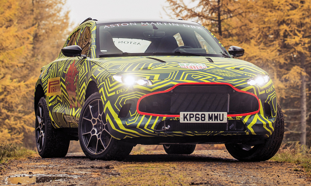 Aston Martin has revealed images of its new DBX prototype.