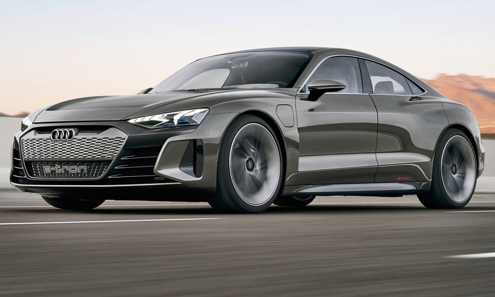The new Audi e-tron GT concept has been revealed.