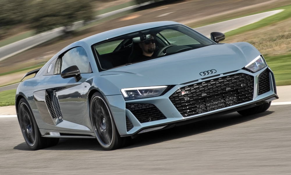 We've driven the new Audi R8 V10 Performance quattro in Spain.