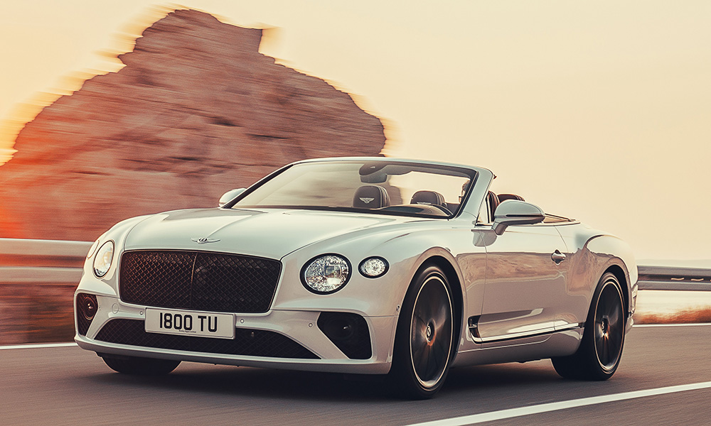 This is Bentley's new convertible grand tourer, the Continental GT C.