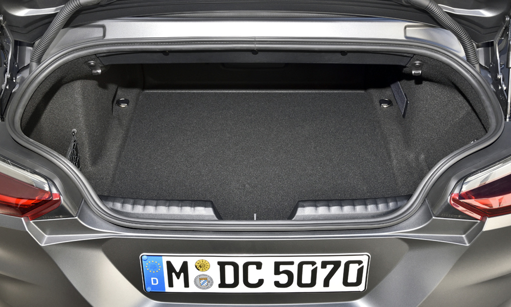 The luggage compartment holds a claimed 281 litres.