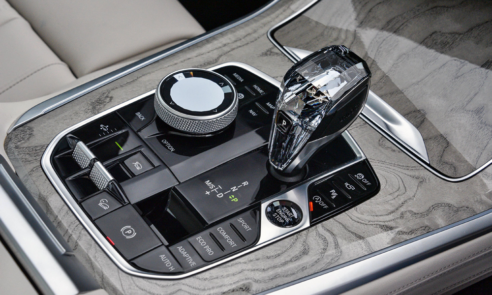 Note the optional crystal elements (this example also features air suspension).