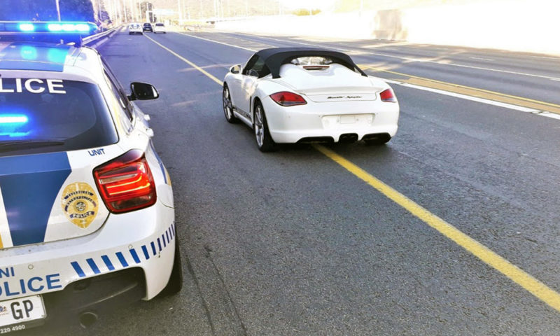 Porsche Boxster Spyder driver late for Golf?