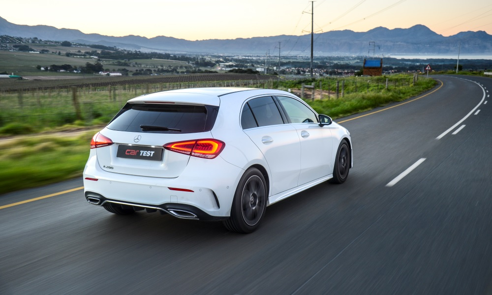 This A200 is equipped with the R25 000 AMG Line package, which includes lowered comfort suspension, a body kit and 18-inch alloy wheels.