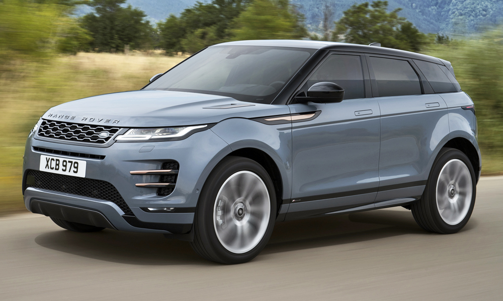 The new Evoque clearly draws some styling inspiration from the Velar.