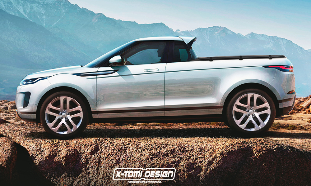 Range Rover Evoque bakkie rendered