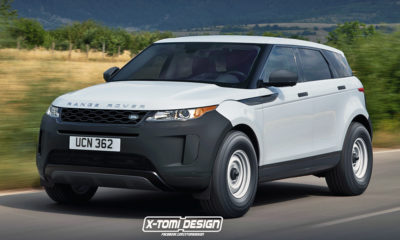 Range Rover Evoque base-spec rendered