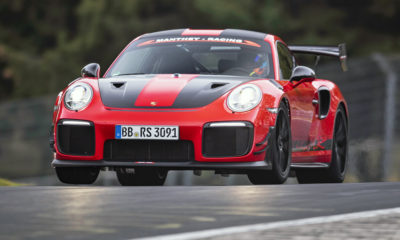 Porsche 911 GT2 RS MR setting its lap record