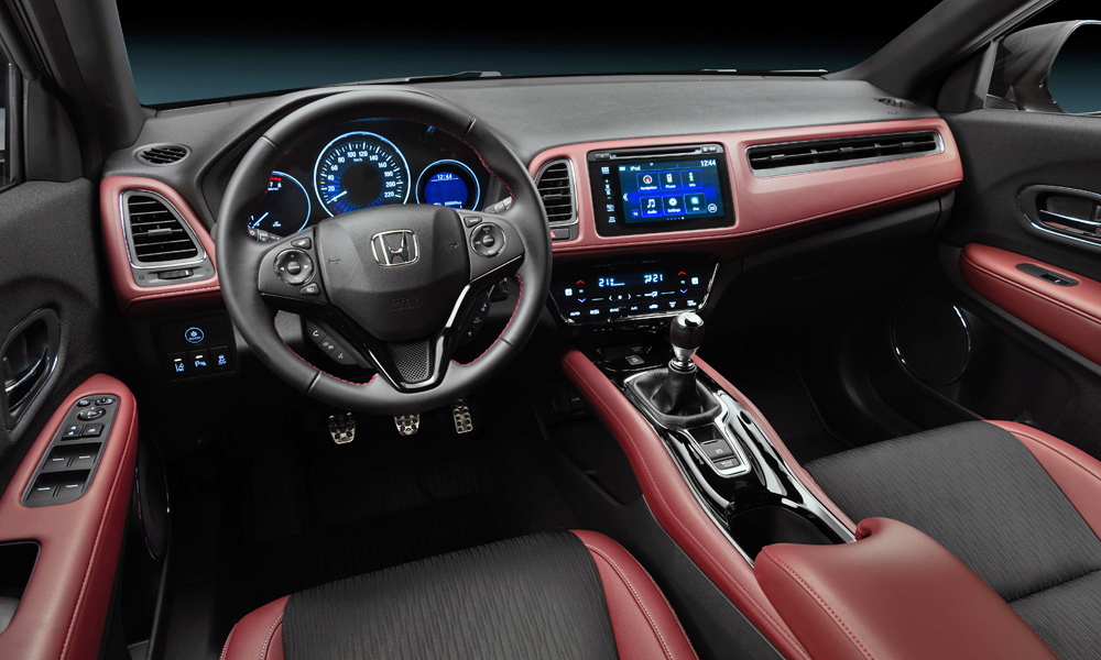 The HR-V Sport can be specified in manual or CVT guise.