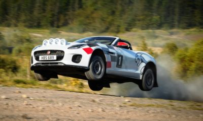Jaguar F-Type Rally jump