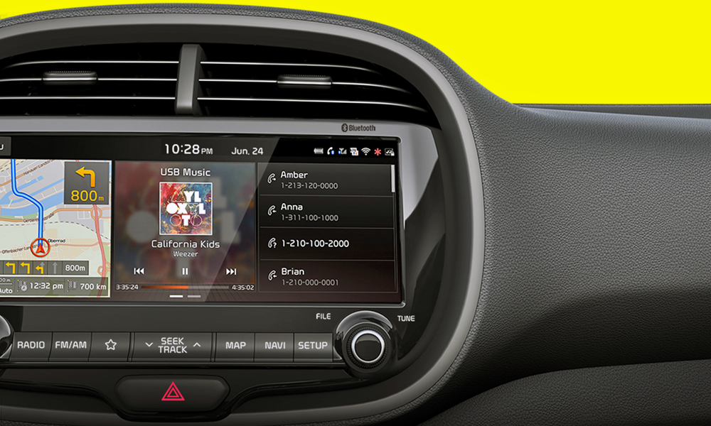 This is the new model's infotainment system.