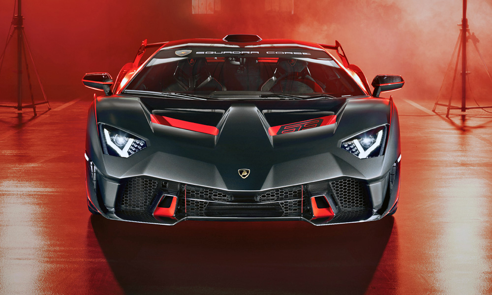 The track weapon is road legal and based on the Aventador.
