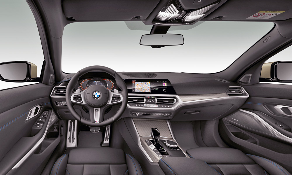 M-branded leather steering wheel, present and correct.