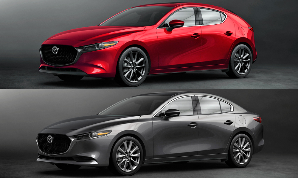 The new Mazda3 has been revealed in hatch and sedan guises.