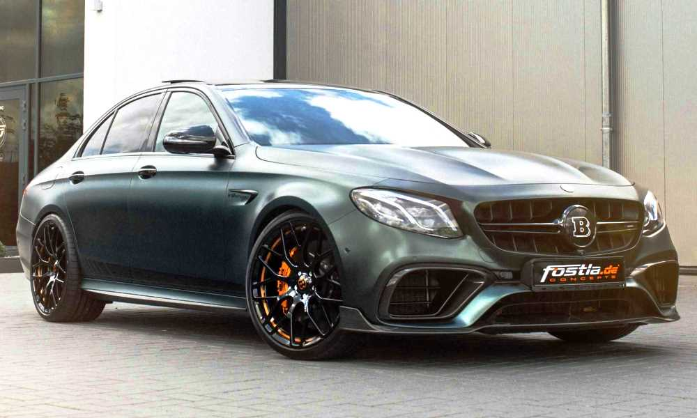 This Mercedes-AMG E63 S boasts a green wrap and extra oomph.