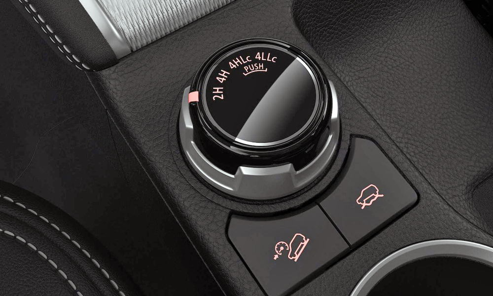 New dial for off-road settings.