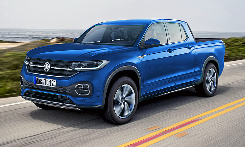 Volkswagen bakkie rendered