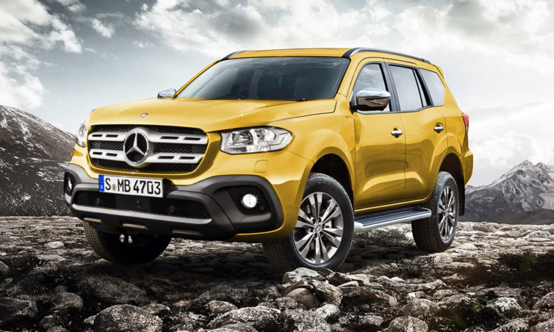 Mercedes-Benz X-Class SUV rendered