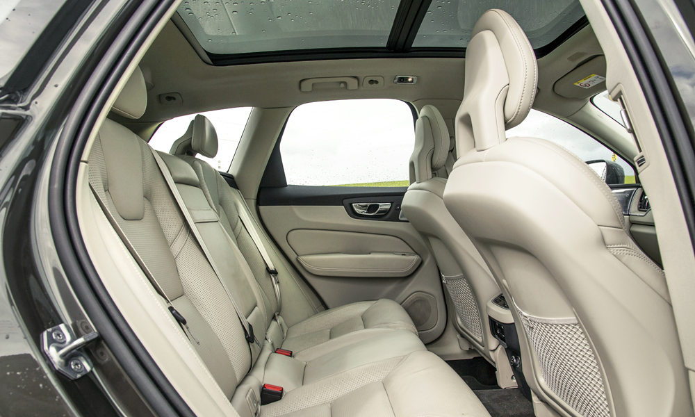 Rear legroom is more generous than even the XC90's.