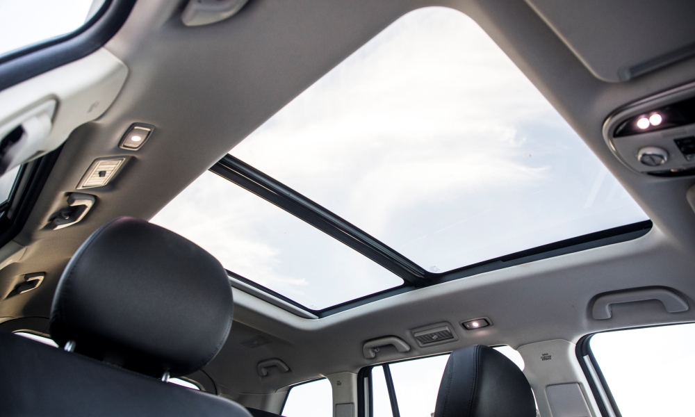 Panoramic sunroof, among many other features, is standard.