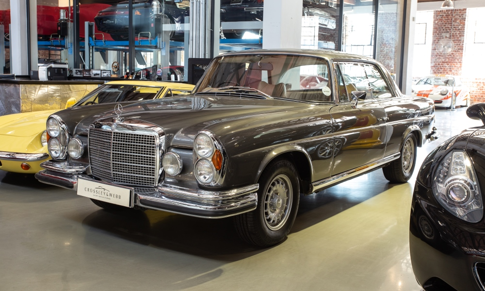 A 1970 Mercedes-Benz 280SE, which is hugely collectable.