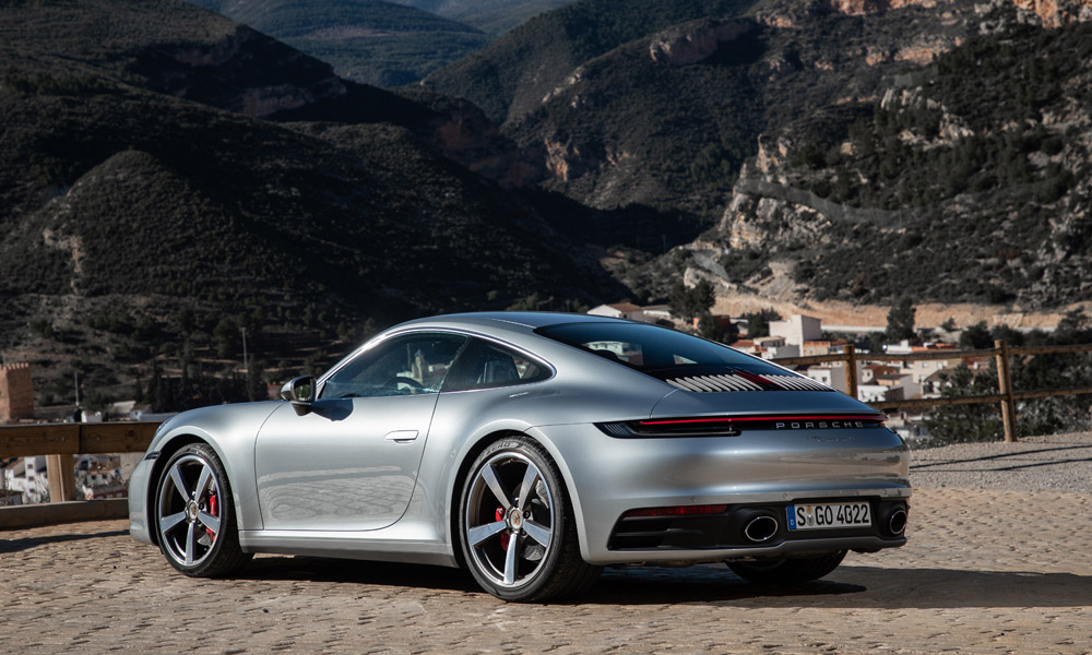 For the first time in the Carrera range, the rear wheels are now larger than the front.