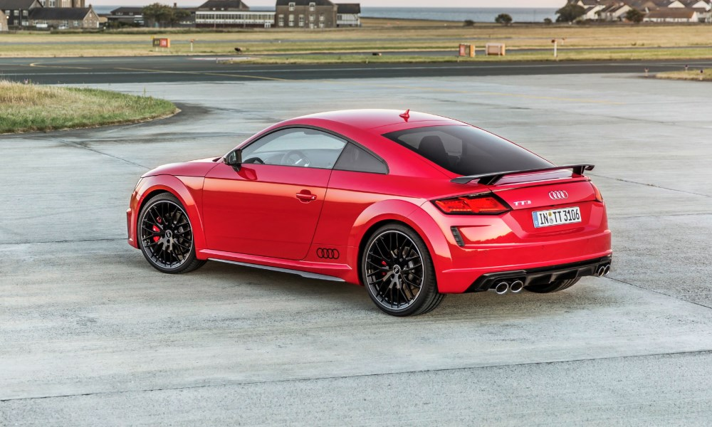 A fixed rear wing and gloss black wheels provide this TTS with added street cred.