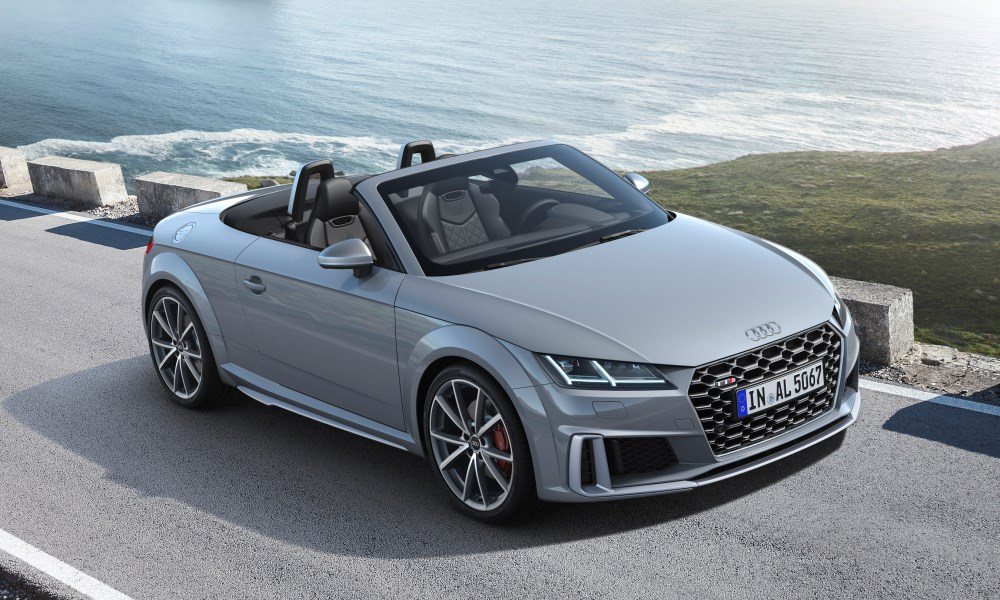 This is the refreshed Audi TTS Roadster.