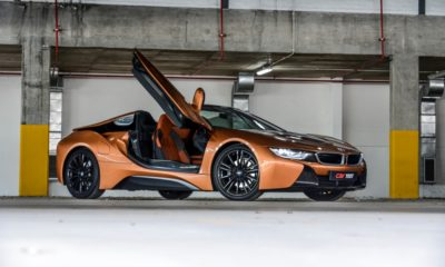 BMW i8 Roadster door open