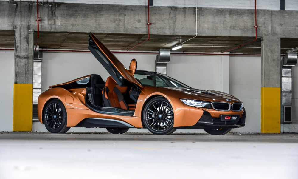 The BMW i8 Roadster turns heads and uses less fuel than its rivals.