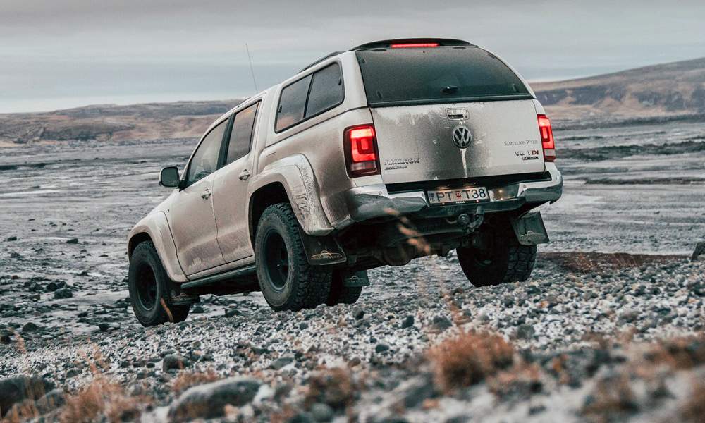 The Amarok AT35 runs on 315/70 R17 all-terrain rubber.